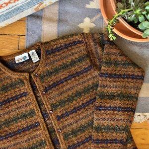 Vintage Cozy Knit Grandpa Wool Sweater